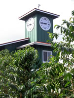 Hula Daddy Tasting Room Clock Tower
